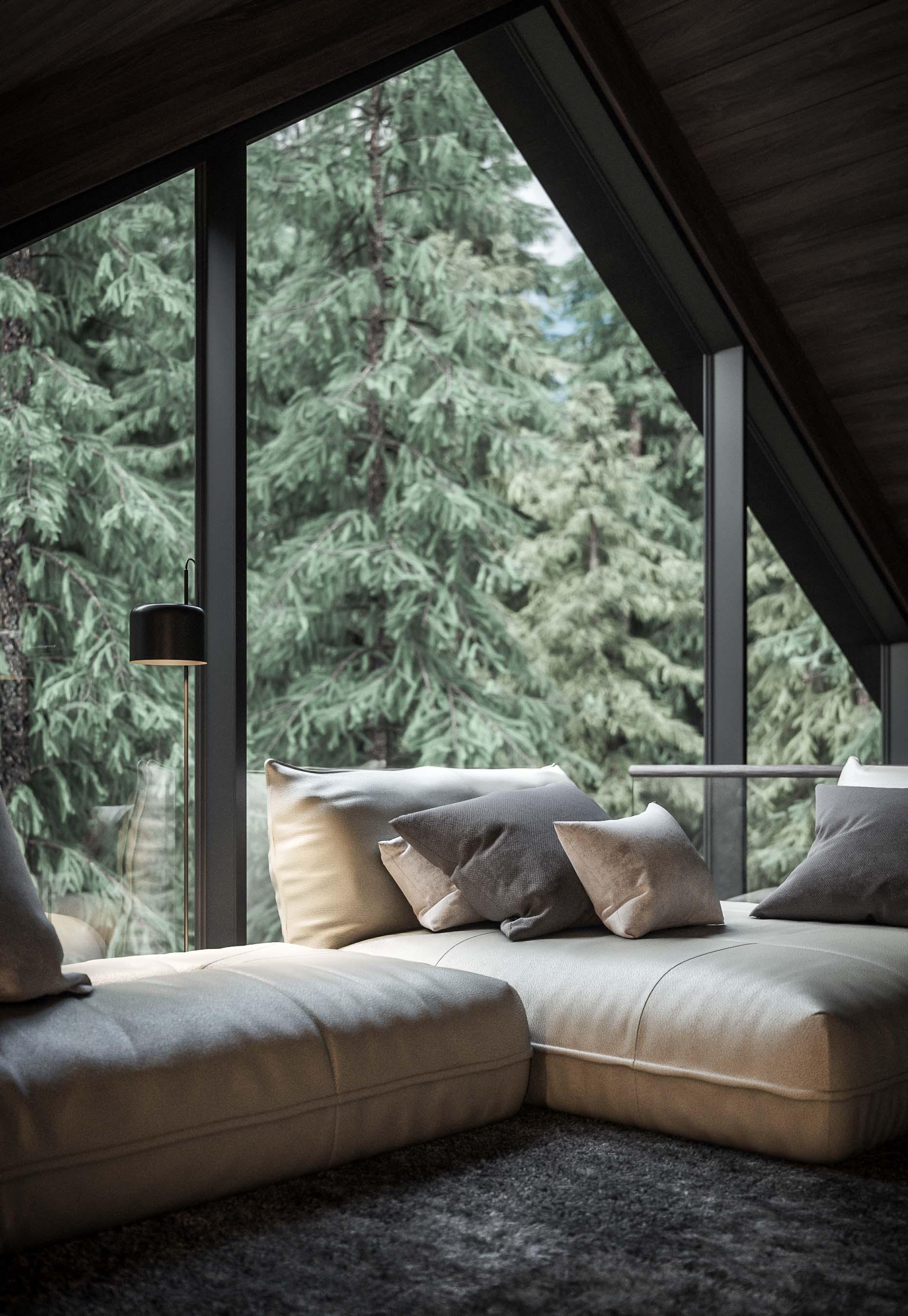 design interior minimalist cabana munte