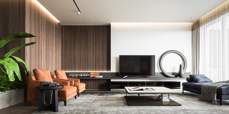 Design Interior Atemporal - Living Room - Penthouse R